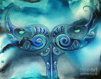 Painting - Whale Tail by Reina Cottier