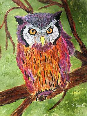 Painting - What A Hoot by Anne Sands