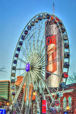 Photograph - What A Ride Skyview Atlanta Westin Peachtree Plaza Super Bowl 2019 Atlanta Georgia Art by Reid Callaway