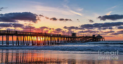 Photograph - What Lights A Pier At Sunset by David Levin