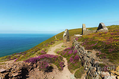 Photograph - Wheal Coates Calciner Furnace by Terri Waters