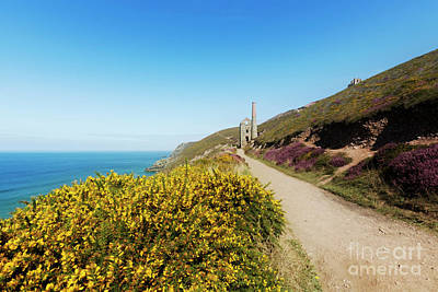 Photograph - Wheal Coates Coastline Looking East by Terri Waters