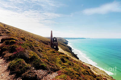 Photograph - Wheal Coates Coastline Looking West by Terri Waters