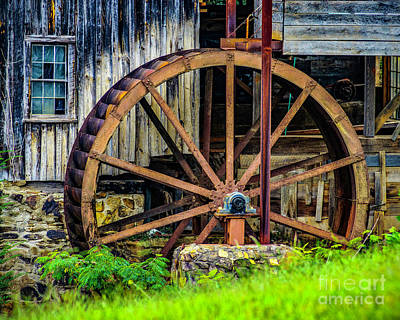 Photograph - Wheel At Sixes Mill by Nick Zelinsky