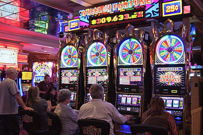 Photograph - Wheel Of Fortune In The Flamingo Casino, Las Vegas by Tatiana Travelways