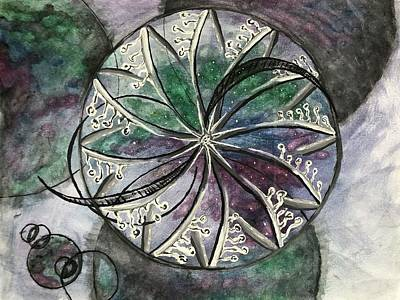 Painting - Wheels within wheels  by Yhoshua Adama