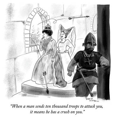 Drawing - When A Man Sends Ten Thousand Troops by Sofia Warren