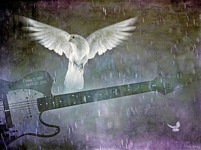 Mixed Media Royalty Free Images - When Doves Cried Royalty-Free Image by Mal Bray
