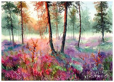 Norfolk Wall Art - Painting - When Heathers Bloom by Suzann's Art