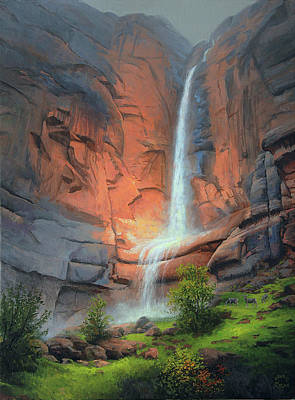 Painting - When It Rains In Zion by John Cogan