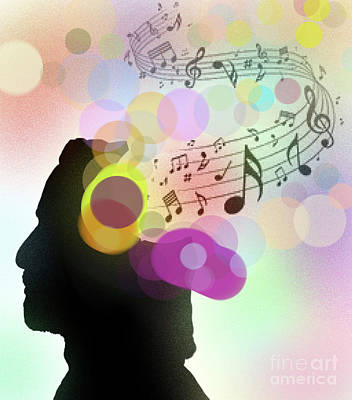 Musicians Royalty Free Images - When Musicians Dream Royalty-Free Image by Ed Moore
