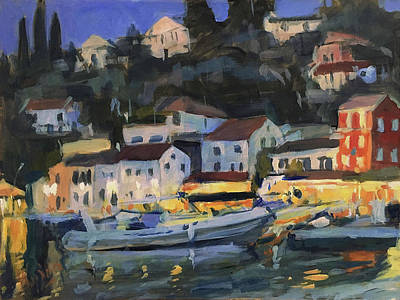 Painting - When The Evening Falls In Loggos by Nop Briex