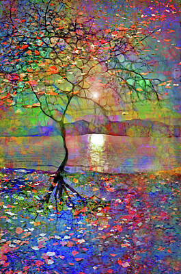 Digital Art - When The Sun Breaks Open The Sky With The Silent Whispers Of Belonging That Only Our Roots Can Feel by Tara Turner