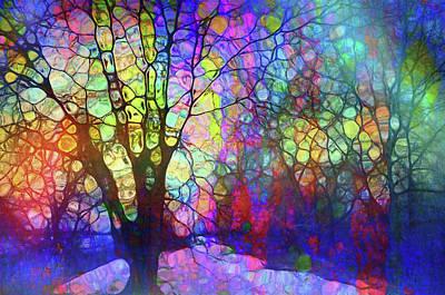 Digital Art - When The Trees Speak In Rainbows by Tara Turner