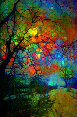 Digital Art - When Trees Paint The Night Sky by Tara Turner