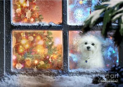 Mixed Media - Where Is Santa ? by Morag Bates