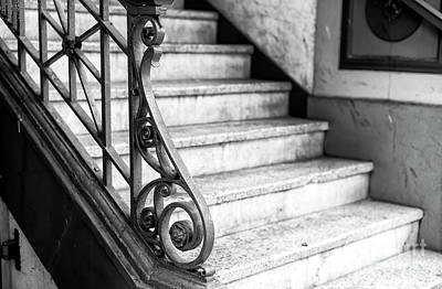 Photograph - Where The Stairs Lead In Gastown Vancouver by John Rizzuto