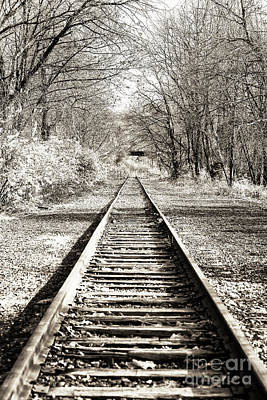 Photograph - Where The Tracks Lead In Bethlehem by John Rizzuto