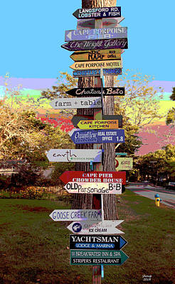 Mixed Media Royalty Free Images - Whimsical Directional Sign Royalty-Free Image by Charles Shoup