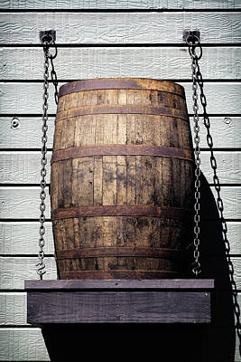 Photograph - Whiskey Barrel On A Shelf by Bill Swartwout Photography