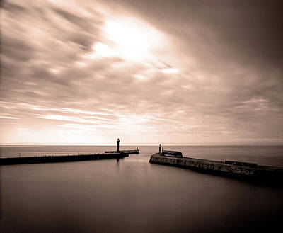 Photograph - Whitby Harbour, North Yorkshire by Ade Groom