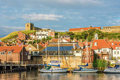 Photograph - Whitby harbour, Yorkshire by David Ross