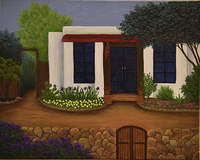 Painting - White Adobe by Gloria Johnson