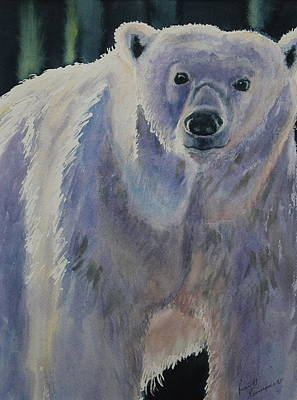 Painting - White Bear by Ruth Kamenev