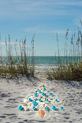 Photograph - White Christmas On Anna Maria Island - Ready For Custom Text by Susan Molnar