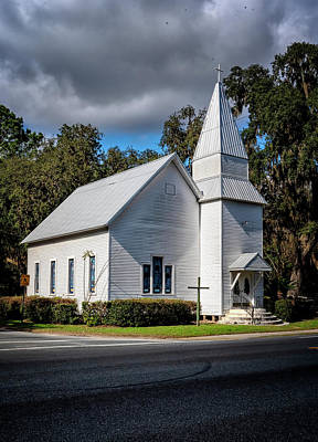 Photograph - White Church by Tom Singleton