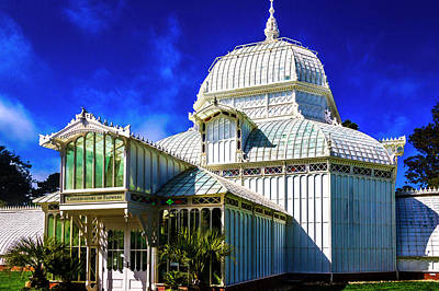 Photograph - White Conservatory Of Flowers by Garry Gay