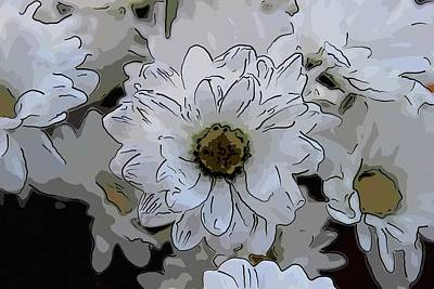 Modern Kitchen - White Daisy Bouquet 2 by Cathy Lindsey