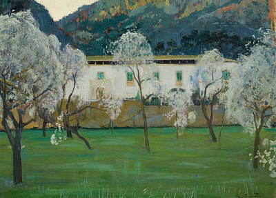 Painting - White Farmhouse by Santiago Rusinol