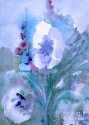 Painting - White Flower At Twilight by Irina Dobrotsvet