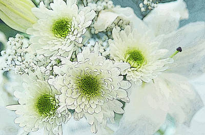 Photograph - White Flowers Bouquet by Jenny Rainbow