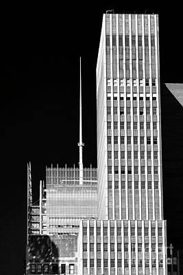 Photograph - White Lines In New York City by John Rizzuto