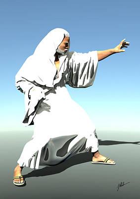 Storytellers Wall Art - Digital Art - White Monk Ventilated by Joaquin Abella