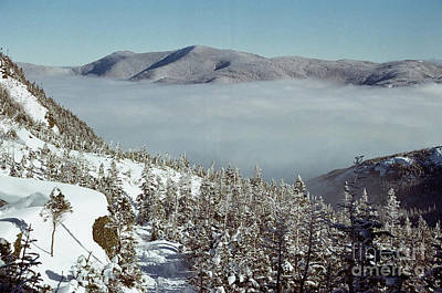 Photograph - White Mountains dressed in valley clouds by Larry Davis Custom Photography