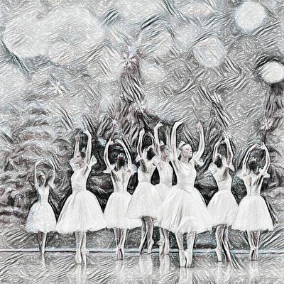 Photograph - White Night In Black And White Drawing  by Debra and Dave Vanderlaan