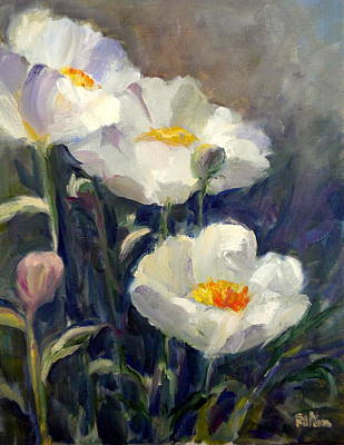 Painting - White Peonies by Sally Bullers