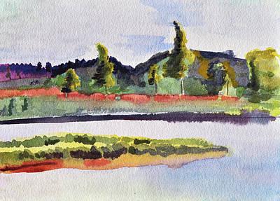 White River At Royalton After Edward Hopper Original