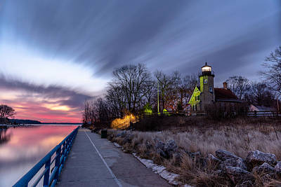 Photograph - White River Light Station by Greg Russell