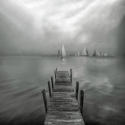 Photograph - White Sails At Dawn by Debra and Dave Vanderlaan