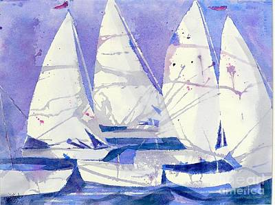 Wall Art - Painting - White Sails by Midge Pippel