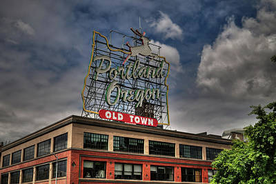 Photograph - White Stag Sign 001 by Lance Vaughn