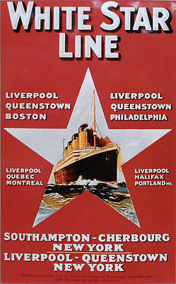Photograph - White Star Line Poster 2 by Richard Reeve