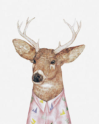 Animal Painting - White-tailed Deer by Animal Crew