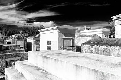 Photograph - White Tombs In New Orleans by John Rizzuto