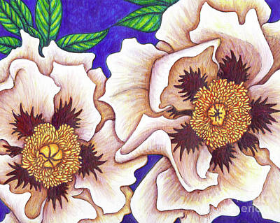 Painting - White Tree Peonies by Amy E Fraser