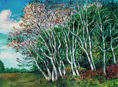 Painting - White Trees In September by David Burke